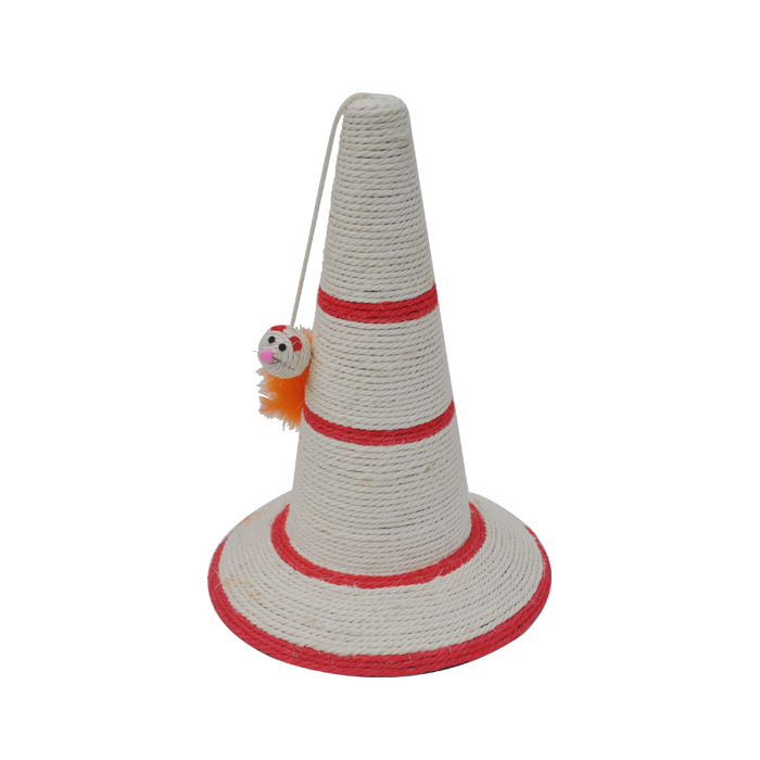 Hat shape Sisal Cat Scratcher Cat scratching post Red