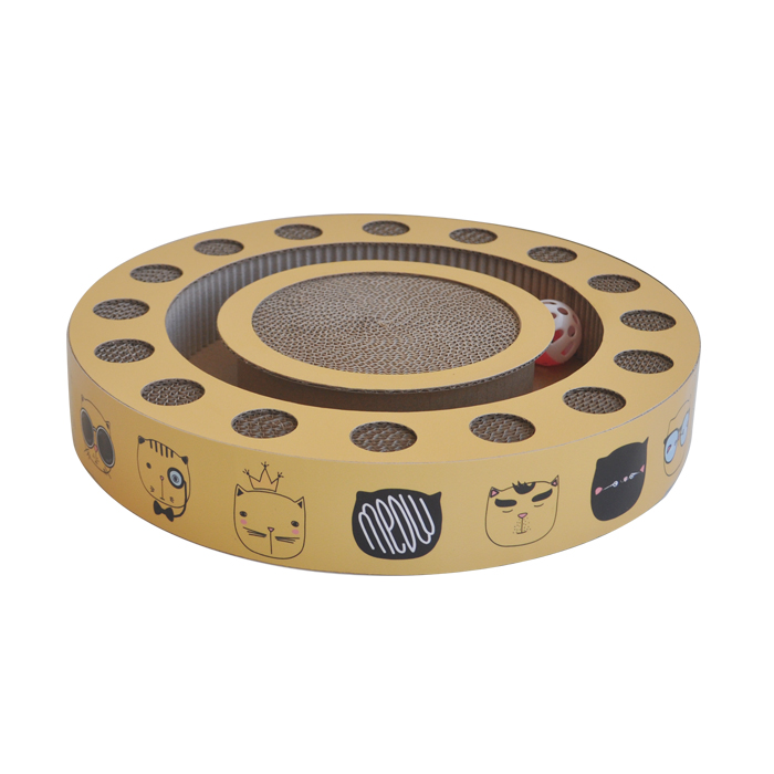 Turbo Cat Scratcher Cat Bed Bell Yellow