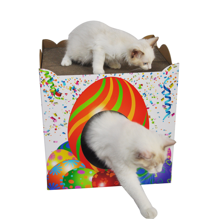 title='Easter Design Foldbale cardboard cat house'
