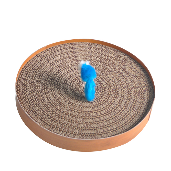 title='New design Turbo shape cat toy cardboard cat scratcher'